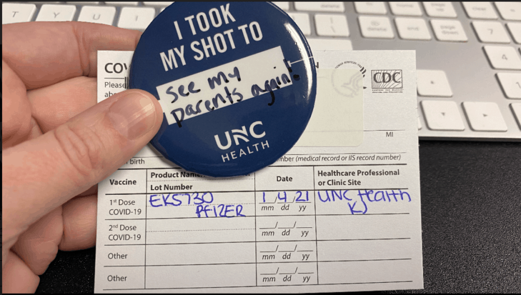 VIGILINT's President and COO, Julie Siler, got her first #COVID-19 vaccine to protect her family, friends, colleagues and to see her parents again. Image: Julie Siler